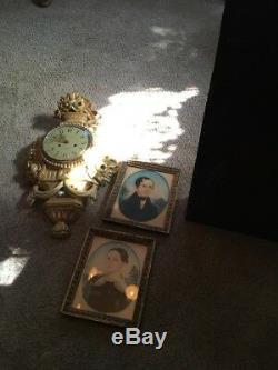 Antique Seth Thomas Wall Mantel Clock Beautiful Original Directions Inside