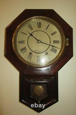 Antique Seth Thomas Wall Regulator Clock 8-Day, Time/Strike, Key-wind