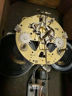Antique Seth Thomas Wall Regulator Clock Circa 1950'70's Free Ship