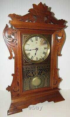 Antique Seth Thomas Walnut Kitchen Clock 8-Day, Time/Strike, Key-wind