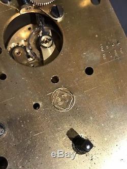 Antique Seth Thomas Ww2 Era U. S. Navy Mark I-deck Maritime Ship Key Wind Clock