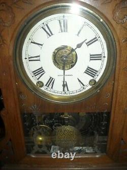 Antique Seth Thomas city series Topeka clock with alarm working used