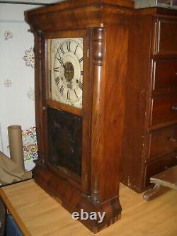 Antique Seth Thomas weight driven column shelf clock working