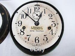 Antique Seth Thomas wooden case ship clock