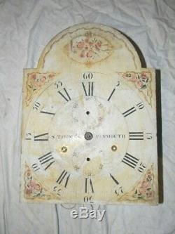 Antique Seth Thomas woodworks tall clock movement & dial