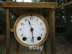 Antique Vintage SETH THOMAS B-48-N Brass Crystal Regulator Clock for Parts