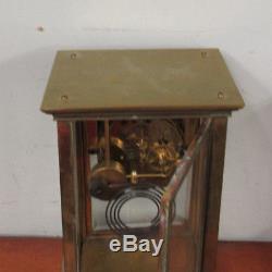 Antique Vintage Seth Thomas Crystal Regulator Clock Brass Nice Runner Clean Face