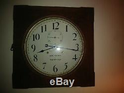 Antique Vintage Seth Thomas Office # 11 Gallery 30 Day Clock-Nice