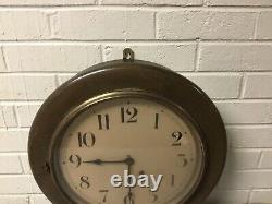 Antique Vtg Seth Thomas Ships Office Industrial Wall Clock 16 1/2 Across Wow