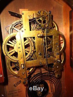 Antique-Walnut-Seth Thomas Arch Top Mantle Clock Ca. 1880-#P633