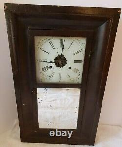 Antique Working 1860's SETH THOMAS CLOCK CO. OGEE OG Weight Driven Mantel Clock