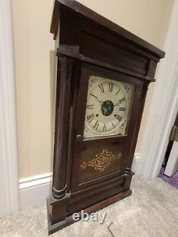 Antique Working 1860's SETH THOMAS Plymouth Conn OGEE Weight Driven Mantel Clock