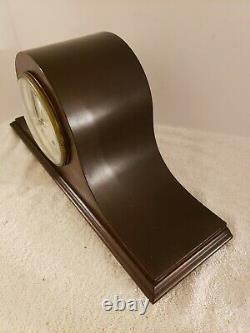 Antique Working SETH THOMAS Art Deco Tambour Humpback Mantel Shelf Clock 120 Mvt