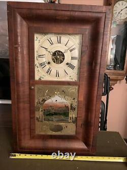 Antique Working SETH THOMAS CLOCK CO. OGEE OG Weight Driven Mantel Clock