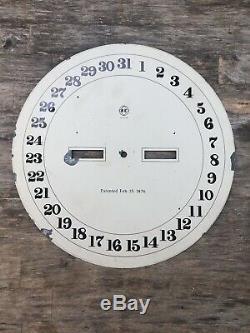 Antique original seth thomas large calendar clock lower dial
