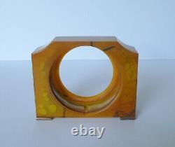Art Deco Marbled Butterscotch Catalin Bakelite Casing for Seth Thomas Clock