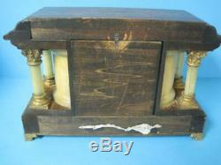 Beautiful Antique Seth Thomas Adamantine Mantel Clock 1900 WithKey Keeps Time