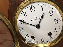 Beautiful Antique Seth Thomas Cathedral Arch Inlaid Mantle Clock