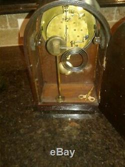 Beautiful Antique Seth Thomas Mahogany Wood Mantle Parlor-beehive Chime Clock