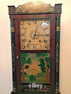 Beautiful Antique Seth Thomas Wooden Clock Cir 1817-1830