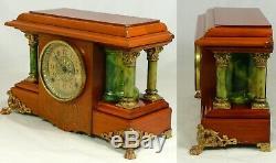 Beautifully restored Seth Thomas Adamantine Sucile mantel clock. Circa 1904