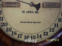 C1879, Seth Thomas Movement Fashion Mantle Wall Calendar Clock