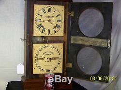 C1879 Southern Calendar Clock Co, St. Louis, Mo, Seth Thomas Movement Fashion