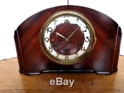 Clean Working Art Deco 8 Day Seth Thomas Westminster Chime Mantle Clock With Key