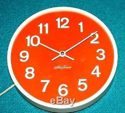Cool Vintage Seth Thomas Electric Wall Clock Rare Super'70's Clock