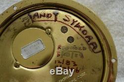 DANIEL J MORRELL/Dennis Hale Artifact-Brass Seth Thomas 1935 Pilothouse Clock
