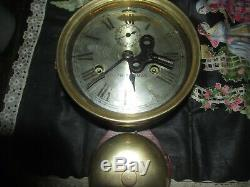 Early Seth Thomas brass ship, s clock with external bell