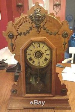 Exquisitely Detailed Antique Seth Thomas Metal Series No. 2 Model Clock C1909