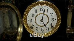 Fully & Properly Restored Seth Thomas Adamantine Clock, Black Hussar Model