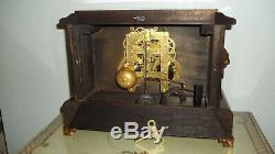 Fully & Properly Restored Seth Thomas Adamantine Mantel Clock, Leeds Model