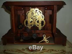 Fully & Properly Restored Seth Thomas Carved Wood Mantel Clock, Model No. 820