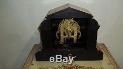 Fully & Properly Restored Seth Thomas Onyx Adamantine Mantel Clock, Model No. 769
