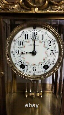 Fully Restored Rare Antique Seth Thomas Empire 10 Crystal Regulator Clock c/1904