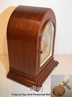 Grand Seth Thomas Restored Antique Chime Clock No 70 1928 In American Walnut