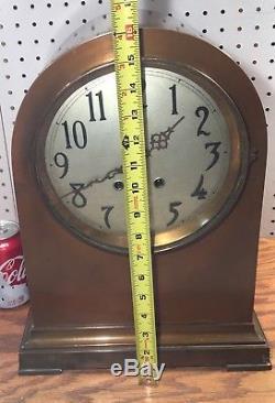 Huge Bronze Seth Thomas Doric No. 3 Beehive Ships Chelsea Style Mantle Clock