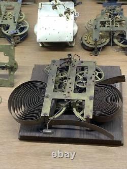 Huge Lot Of Vintage Antique Clock Movement Parts Seth Thomas Franz Hermle