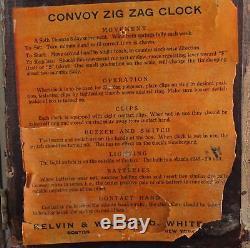 KELVIN-WHITE CONVOY ZIG ZAG CLOCK with SETH THOMAS MOVEMENT- WANTS TO RUN WP104