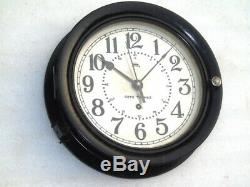 Large 10.5 Inch Seth Thomas 1942 Ww2 Wwii Military Clock Naval Deck MB Watch