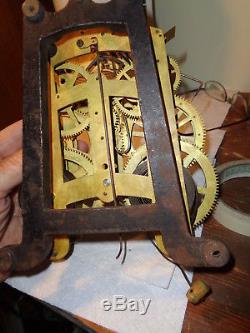 Large-Antique-Seth Thomas- Clock Movement-Ca. 1890-To Restore-#P270