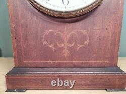 Large Antique Seth Thomas Inlay Design Gothic Clock To Restore