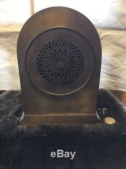 Large Bronze Antique Seth Thomas Sonora Chime on Bells