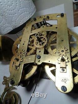 Large-Long Drop-Seth Thomas Clock Movement-Time & Strike-Ca. 1880-Model #40-#T452
