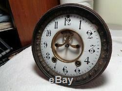 Large-Seth Thomas-Open Escapement-Clock Movement-Ca. 1900-To Restore-#T628