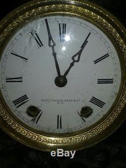 Large Seth Thomas & Sons Clock-iron Figural Clock