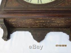 Large Vintage Oak Seth Thomas Wall Clock Does Not Run As Is