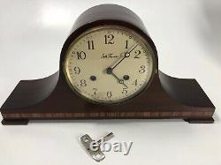 Large Vtg Seth Thomas Mantle Clock A 208-005 (2) Jewels 7713 USA/Germany with Key